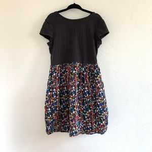 Gap Kids Two Toned Black and Floral Dress sz 8